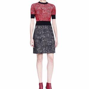 Lanvin Colorblock Mixed Flecked Dress River 2015